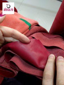 Piele visinie fina pentru posete de dama si rucsacuri