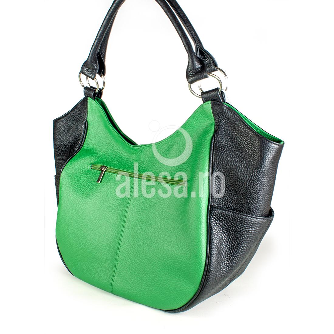 Geanta verde de umar, o geanta mare, romaneasca