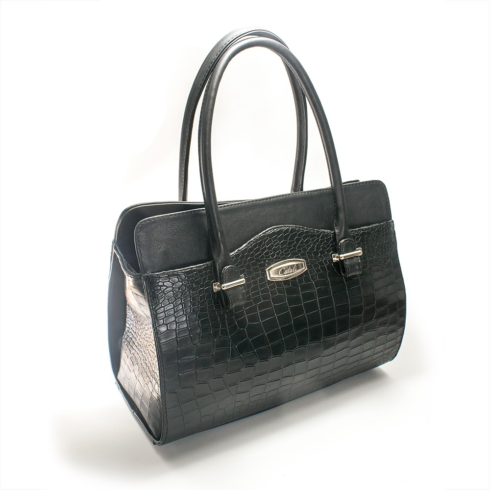 Poseta office neagra croco, Galla