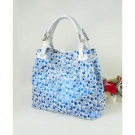 Geanta de dama cu buline albastre stralucitoare, Summer