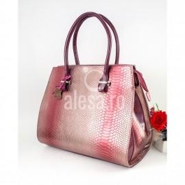 Geanta de dama rosie cu solzi luciosi, Mera