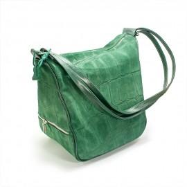 Geanta de dama verde, de umar, tip sac, piramidala, Karina
