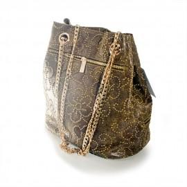 Geanta sac din piele inflorata, Geanina