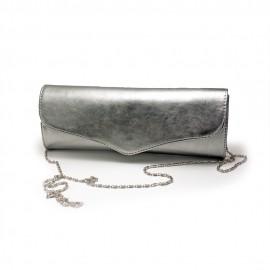 Plic elegant din piele, argintiu, Verona