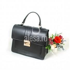 Poseta eleganta din piele neagra Clara