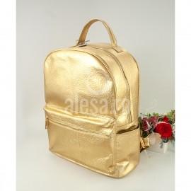 Rucsacul de dama auriu, de dimensiuni mari, Times